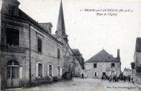place de l'église en 1900